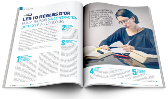 Double page intérieure magazine Le Major numéro 3
