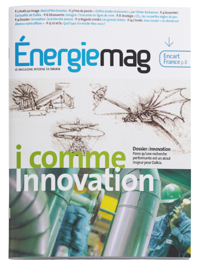 Une magazine Dalkia Mag - Arzur Philippe Graphiste FreeLance - Tél 06 87 24 05 17 - Mise en page, création graphique, direction artistique