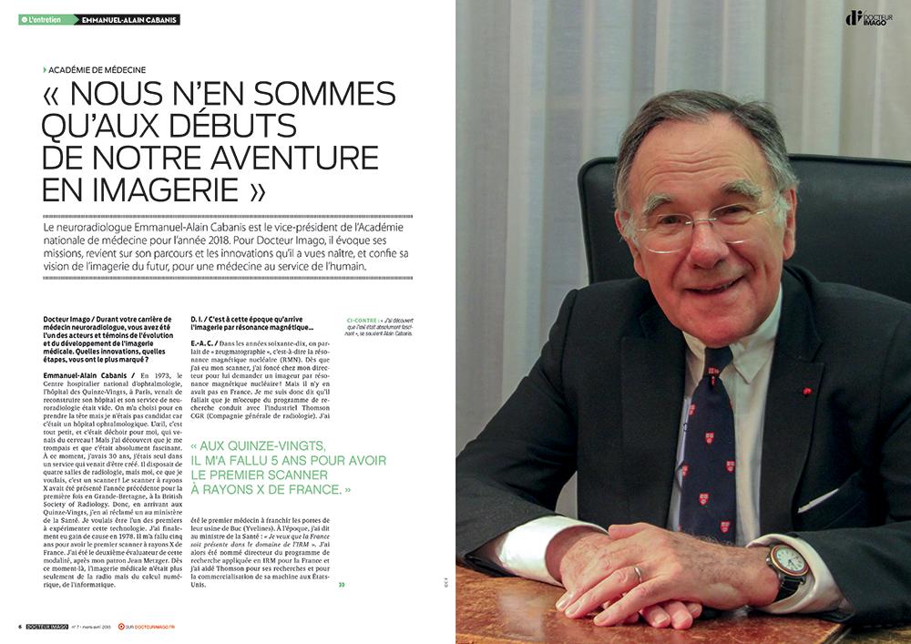 Exemple double page mise en page magazine DrImago - Arzur Philippe Graphiste FreeLance - Tél 06 87 24 05 17 - Mise en page, création graphique, direction artistique