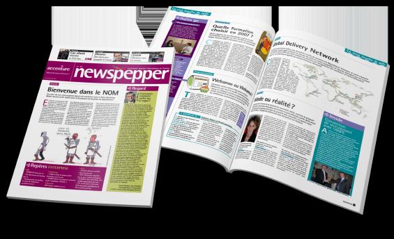 Une mise en page magazine Newspepper - Arzur Philippe Graphiste FreeLance - Tél 06 87 24 05 17 - Mise en page, création graphique, direction artistique