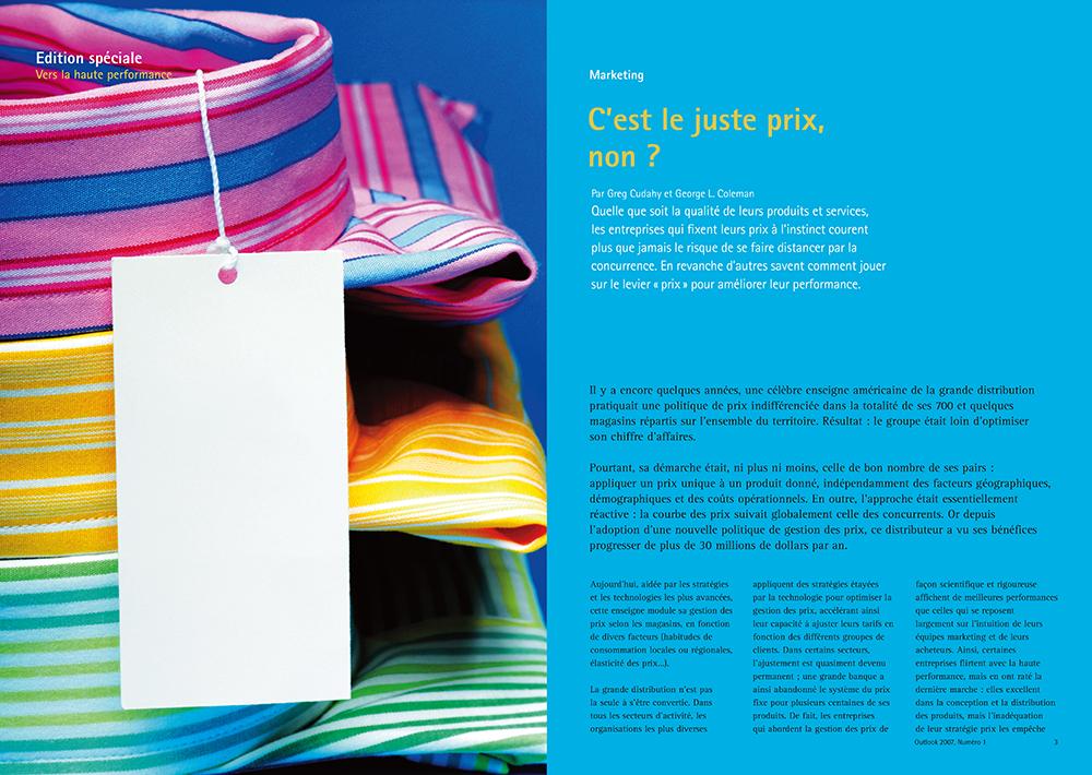 Exemple mise en page magazine Outlook - Arzur Philippe Graphiste FreeLance - Tél 06 87 24 05 17 - Mise en page, création graphique, direction artistique